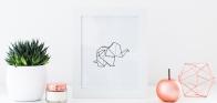 Origami Elephant Cropped